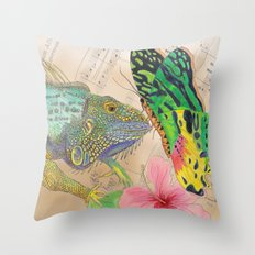 Beauty and the Butterfly Throw Pillow