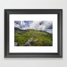 Over The Mountains Framed Art Print