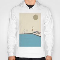 swimming Hoodies featuring Swimming by Jarom Ward