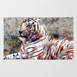 vibrant tiger Rug