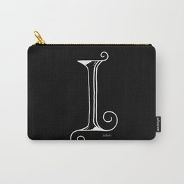 I- Letter Collection Black Carry-All Pouch