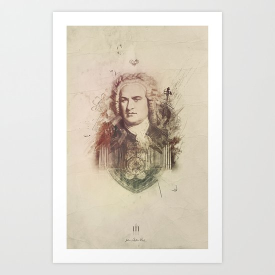 Bach Art Print
