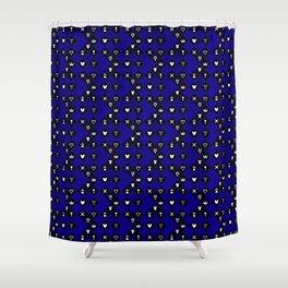 Kingdom Hearts III - Pattern - Blue Shower Curtain