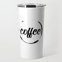 coffee stained Travel Mug