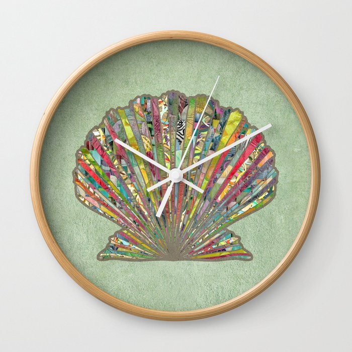 Sea Shell Wall Clock