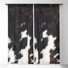 Cowhide Texture Blackout Curtain
