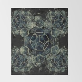 Sacred Geometry for your daily life -  Platonic Solids - ETHER Throw Blanket