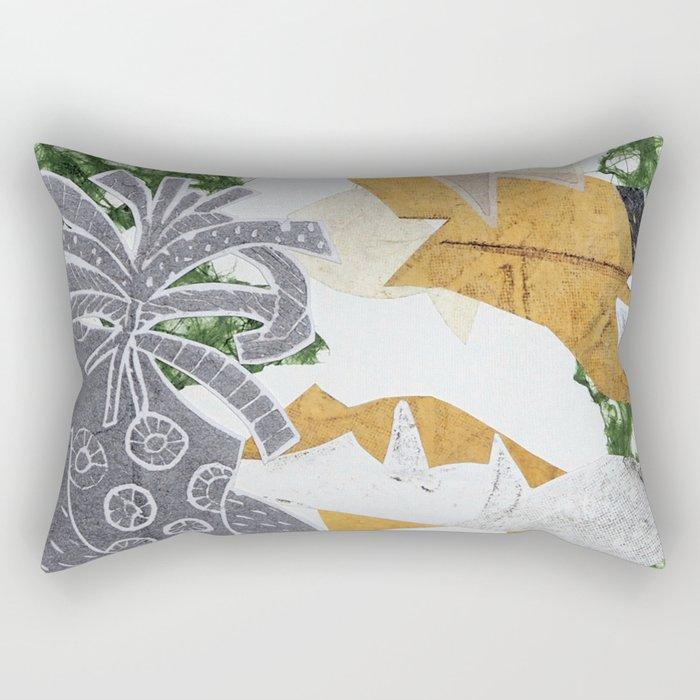 Tropical Toile Rectangular Pillow
