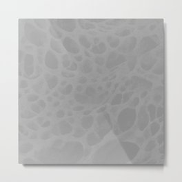 Pattern SPOTS Grey Metal Print