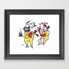 yo mr white Framed Art Print