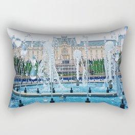 blue palace fountain Rectangular Pillow