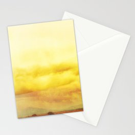 Modern Desert Sky Ladscape, Yellow Clouds, New Mexico, Minmal Stationery Cards