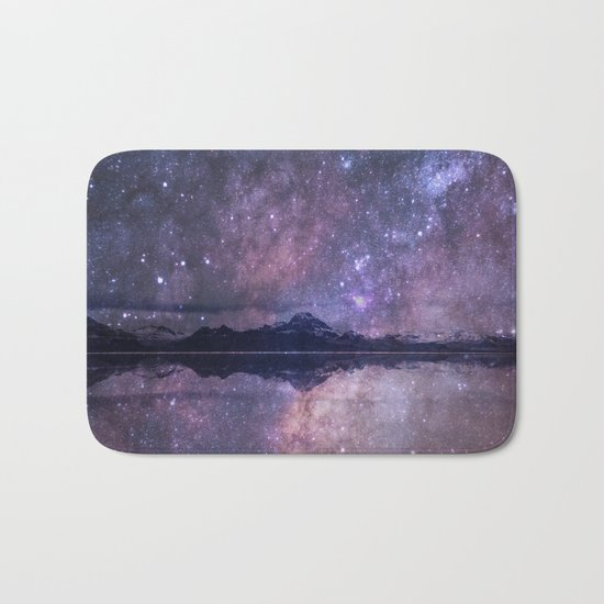 Space and time Bath Mat