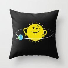 The Whole World Revolves Around Me Throw Pillow