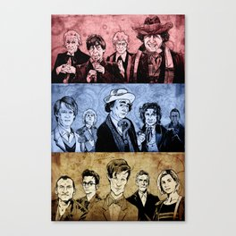 Doctor Who - Three Colours Who Canvas Print