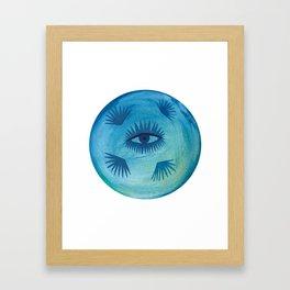 Full Moon Vibes Framed Art Print