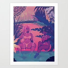 Paradise In Hell Art Print
