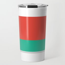 Flag of Belarus.  The slit in the paper with shadows. Travel Mug