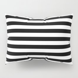 Simple Black & White Stripes Pillow Sham