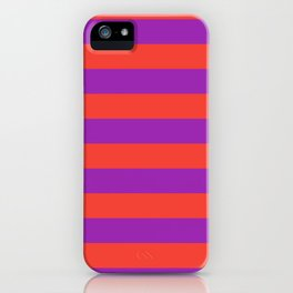 Even Horizontal Stripes, Red and Purple, L iPhone Case