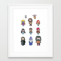 harry potter Framed Art Prints featuring Wizards by Hello Quirky