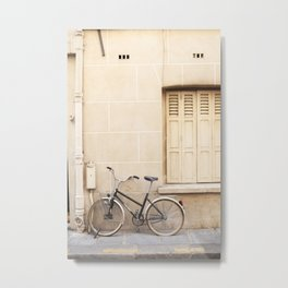 Paris by Bike Metal Print