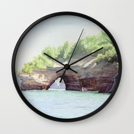 Picture Rocks Wall Clock