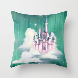 Star Castle In The Clouds Throw Pillow