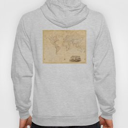 Vintage Map of The World (1818) Hoody