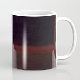 1960 Black on Dark Sienna On Purple by Mark Rothko HD Coffee Mug