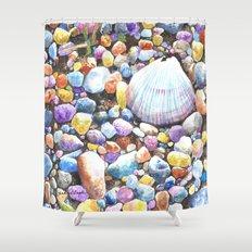 Rainbow Rocks Shower Curtain