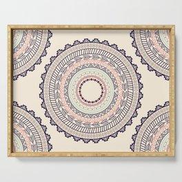 Aztec ornament pattern Serving Tray