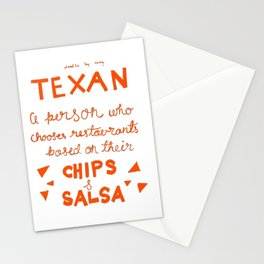 Chips and Salsa in Orange Stationery Cards