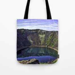 Kerid Crater Lake in Iceland Tote Bag