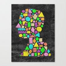 Mosaic Silhouette Canvas Print