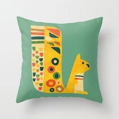 Century Squirrel Throw Pillow