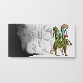 Mandrillus evolution Metal Print