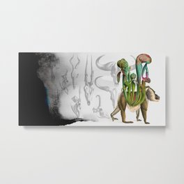 Mandrillus evolution Metal Print