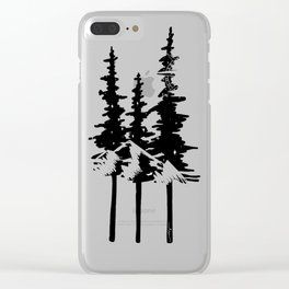 Trees and Compass Clear iPhone Case