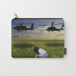 War Overshadows the Innocent - Photomontage Carry-All Pouch