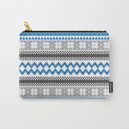 Winter Blue Pattern Carry-All Pouch