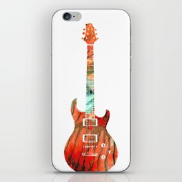 Electric Guitar 2 - Buy Colorful Abstract Musical Instrument iPhone Skin