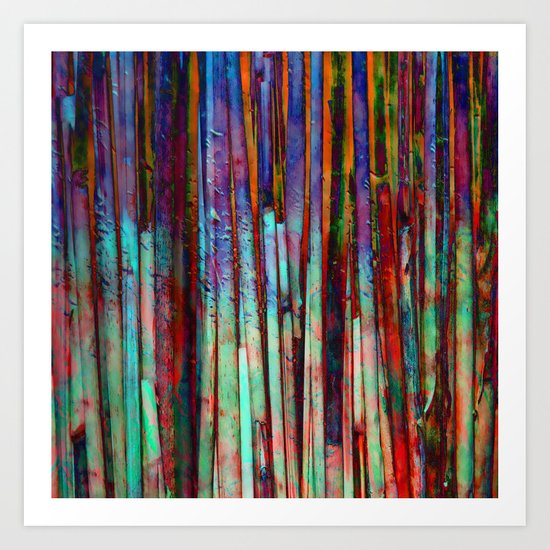 Colored Bamboo 2 Art Print