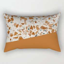 Terrazzo Texture Antique Mustard #3 Rectangular Pillow