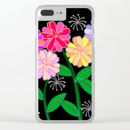Plasticine Flowers with Dandelion Seed Clear iPhone Case