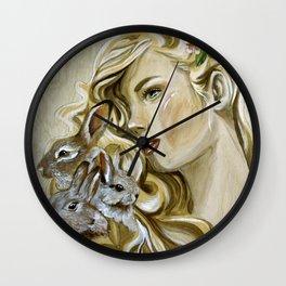 """""""Hunny Bunny"""" Wall Clock"""