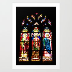 Stained-glass window Art Print