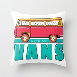 Life in Van Throw Pillow
