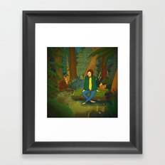 Chilling in the Woods Framed Art Print
