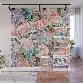 Because Sloths Watercolor Wall Mural